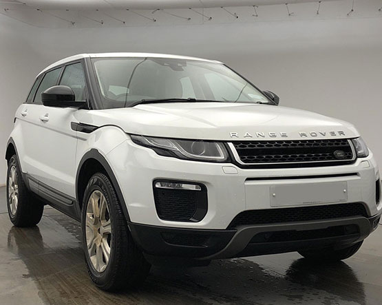 Front image of a Range Rover Evoque
