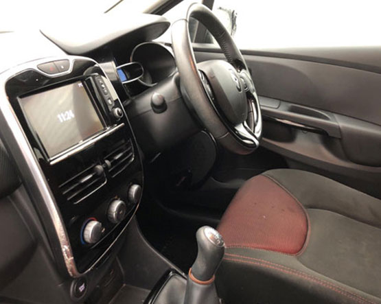 Inside view image of a Renault Clio