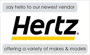 Image of Hertz banner.