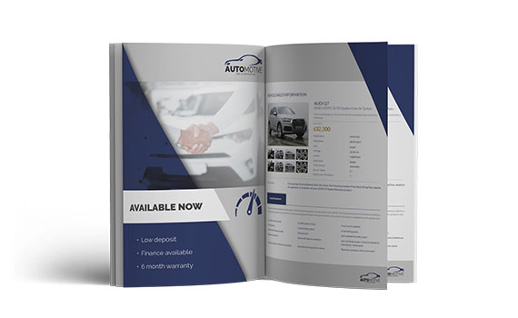 Download and customise sales brochures to promote vehicles to your customers